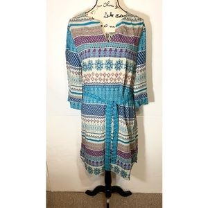 Beach Lunch Lounge Shift Tunic Dress Floral